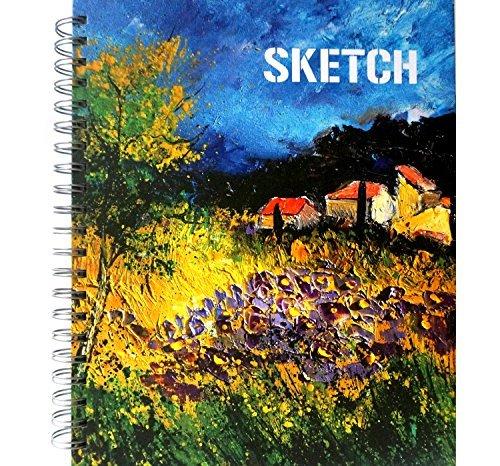 Lightjust A4 Skizzenbuch, Hardcover Zeichenpapier mit spiral-gebundenes, säurefrei,200 Seiten (100 Blätter), 120g /m2(80LBS), Ideal zum Skizzieren, Zeichnen, Portrait