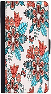 Snoogg Abstract Floral Backgrounddesigner Protective Flip Case Cover For Htc ...