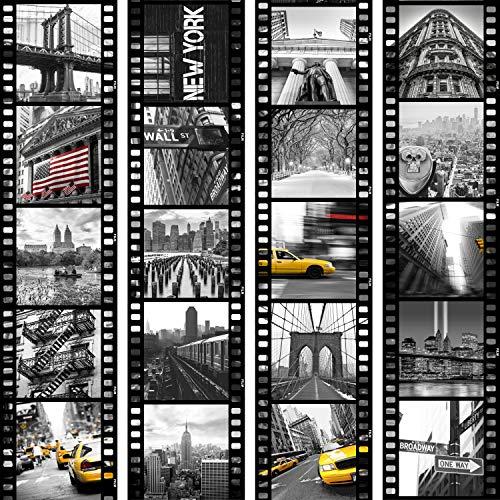 murando - PURO TAPETE - Realistische Tapete ohne Rapport und Versatz 10m Vlies Tapetenrolle Wandtapete modern design Fototapete - City Stadt New York Film d-C-0001-j-b - Wohnung-muster-design