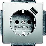 Busch-Jaeger 20EUCBUSB-866 Schuko USB-Steckdose Pur Edelstahl