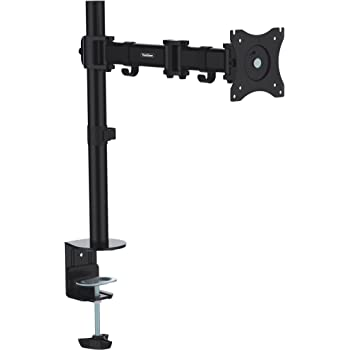 "VonHaus Monitor Mount Arm for 13""-27"" Computer Screens - Desk Mounting VESA Bracket - Tilt, Rotate & Swivel Functions - Max 100x100"