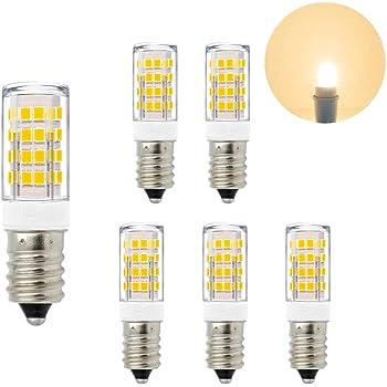 ENUOTEK Lamparas Bombillas Pequeña de LED SES Casquillo E14 5W de Bajo Consumo Luz Calida 3000K
