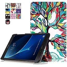 Samsung Tab A 10,1'' Funda,Cover para Galaxy Tab A 2016 Tablet,Smart Folio Case Cover Stand Protectora de PU Cuero Funda para Samsung Galaxy Tab A6 10.1'' SM-T580N / SM-T585N Tablet,Árbol de la suerte