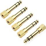 Conector macho de 6,35 mm 6,5 mm 6,35 mm a conector hembra de 3,5 mm amplificador adaptador de audio micrófono AUX 6,3 3,5 mm