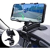 Multifunctionele autohouder voor dashboard, met verstelbare veerclip, 360 graden draaibaar, draagbaar, voor auto en smartphon