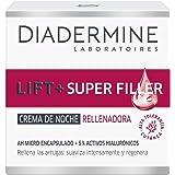 Diadermine Lift+ Super Rellenador Crema de Noche, con Micro Cápuslas de Ácido Hialurónico, para Pieles Maduras, Acción Antiar