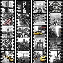 murando Carte da parati PURO Carte da parati realistiche 10m della carta da parati senza ripetere il motivo Il fotomurale su fliselina decorazioni per pareti citt? New York Film d-C-0001-j-b