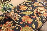 WanJiaMen'Shop Continental Palace Retro Blume Tischdecke Stoffen im Klassischen Runden Tisch Tischdecke Esstisch Tuch über Das Handtuch