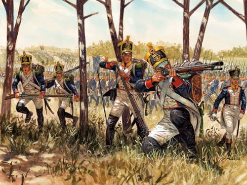 Italeri 6066 - napoleonic wars: french infantry  scala 1:72
