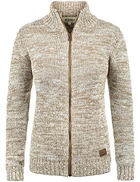 Desires Phenix Cárdigan Chaqueta De Punto Grueso Corto para Mujer con Cuello Alto De 100% algodón