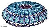 Monika Enterprises - Cojín de meditación con diseño de Mandala, Color Azul