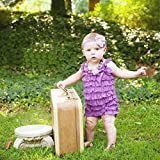 #7: PoshTots London 1 - 2 Years Sleeveless Baby Lace Rompers Baby Girl Lace Jumpsuit Birthday Outfit Baby kid