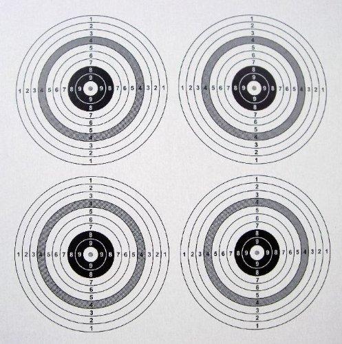100 shoot-club Zielscheiben 14x14cm mit 4 Spiegeln und 250 g/m² - ShoXx.® Set des Herstellers shoot-club24