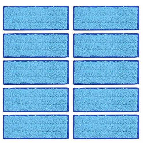 10 almohadillas de microfibra para mopa húmeda