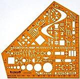 Schablone Zeichenschablone Technisches Zeichnen - Elektro