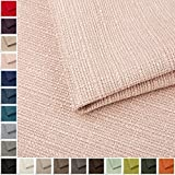 Webstoff Strukturstoff Portland - Möbelstoff Polsterstoff Uni Meterware - rosa 79