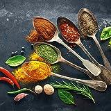 Eurographics DG-DC1178 Colorful Spices on Spoons I 30x30 Glasbild, Glas, Bunt, 30 x 30 x 2 cm