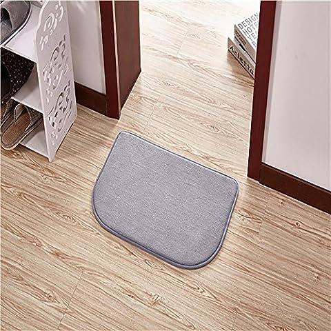 HDWN Semi di corallo velluto - circolare porta stuoie Hall ottomani bagno bagno comodino assorbente skid pad tappeto , silver , 50cm*80cm