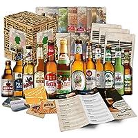 """'""""Biere del mondo confezione regalo + + informazioni + + birra coperchio. Birra regalo per uomini/compleanno/Natale ecc. la idea regalo perfetta per gli uomini"""