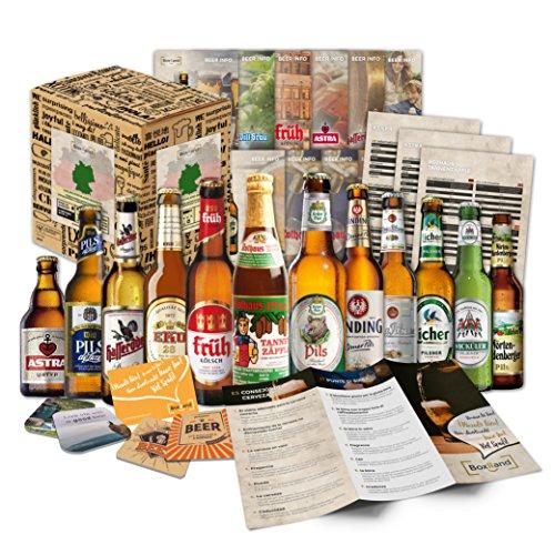 ''Biere del mondo confezione regalo + + informazioni + + birra coperchio. Birra regalo per uomini/compleanno/Natale ecc. la idea regalo perfetta per gli uom