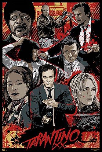 Tarantino Xx - One Sheet - Quentin Tarantino Film Poster Plakat Druck - Grösse 61x91,5 cm + 1 Ü-Poster der Grösse 61x91,5cm