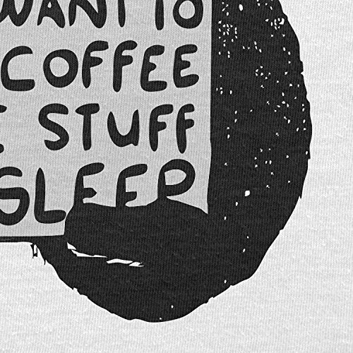 NERDO - Drink coffee, create stuff and sleep - Herren T-Shirt Weiß