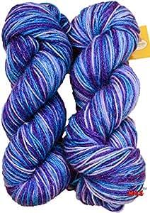 Vardhman Multi Royal Hand Knitting Wool / Art Craft Soft Fingering Crochet Hook Yarn, Needle Acrylic Knitting Yarn Thread Dyed 200 Gm
