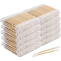 Lot de 1000 cotons-tiges, 100 % coton biologique biodégradables, écologiques en bois écologiques, durables et…