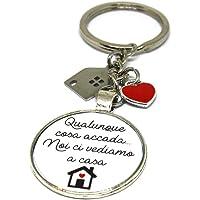 Portachiavi - Idea regalo nuova casa - Portachiavi acciaio - Portachiavi casa - Qualunque cosa accada noi ci vediamo a…
