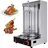 Lumemery Gril Vertical électrique Doner Shawarma Kebab Machine à Rotation Automatique Barbecue sans fumée pour Restaurant Cui