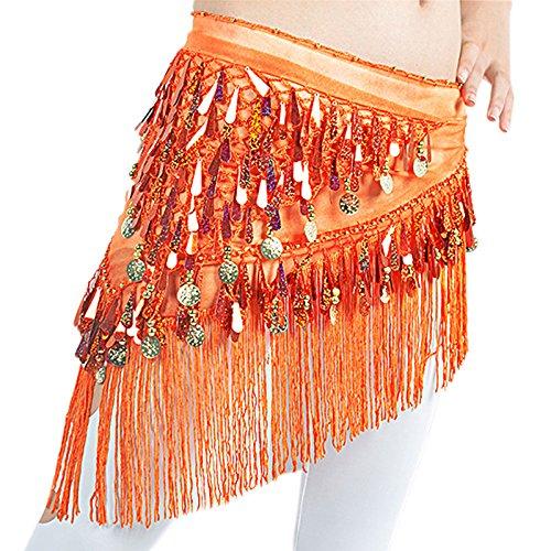 dairyshop Bauchtanz Kostüm Hip Schal Rock Gürtel Gold Medaille Tänzerin Tanzen Wrap auf Verkauf, (Halloween Hip Kostüme Hop Tänzerin)
