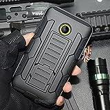 Cocomii Robot Armor Microsoft Lumia 435 Hülle [Strapazierfähig] Gürtelclip Ständer Stoßfest Gehäuse [Militärisch Verteidiger] Ganzkörper Case Schutzhülle for Microsoft Lumia 435 (R.Black)