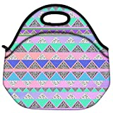 Snoogg Pyramid Aztec Travel Outdoor Carry Lunch Bag Picnic Tote Box Container Zip Out Removable Carry Lunchbox Handle Tote Lunch Bag Food Bag For School Work Office