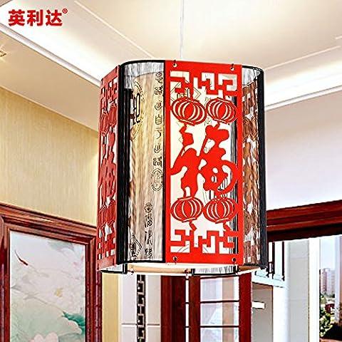 Cinese moderno lampadario lampada illumina il corridoio corridoio balconi Hotel lanterne rosse lampade di seta nera , nero e thread