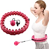 Slimme Hoelahoep, Afneembare En Verstelbare Hoelahoep Fitness-tool, Geschikt Voor Postpartum Moeders/Bedienden/Studenten,Pink