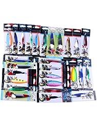 La Pêche, Bobogo 15pcs Tailles assorties Lot Leurre de pêche Flotte, Slip Drift Tube