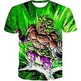 Beiläufiges Kurzarm T-Shirt Dragon Ball Z T-Shirt Herren 3D T-Shirt Super Saiyajin Goku Brolly Gedruckt Top T-Shirt Camiseta Hombre (Farbe : #12, größe : 3XL)