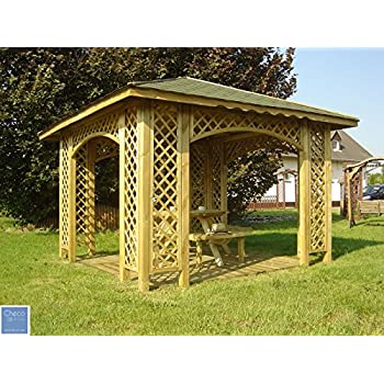 3m X 3m Ex X Garden Wooden Pavilion Gazebo