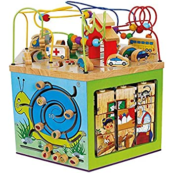 My Busy Farm Wooden Activity Cube Amazon Co Uk Toys Amp Games