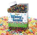 Agoer Wasser Perlen 260g Gelperlen (ca. 40.000pcs) Mischfarben Regenbogen Wasserperlen für Orbeez Spa, Spielzeug, Hochzeit Dekoration, Aquaperlen, Vasen,Heimtextilien usw