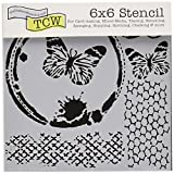 """The Crafter's Workshop Bible Journaling Stencil - Butterfly Collage (6"""" X 6"""")"""