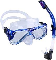 Gosccess Premium Schnorchelset Erwachsene Taucherbrille mit Schnorchel gehärtete Anti-Beschlag Gläser Taucherbrille Tauchmaske und trockenem Schnorchel Set