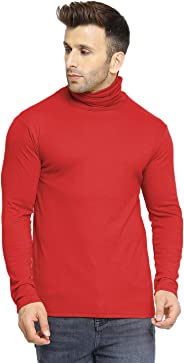 CHKOKKO Winter wear Cotton Full Sleeves Turtle Neck T Shirts for Mens