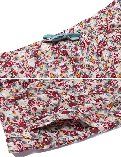 Ekouaer Damen Druck Schlafanzug Langarm Pyjama Polka Dots Zweiteiliger Lang Hausanzug Grün
