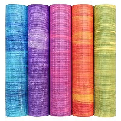 Yogamatte GANGES, Allround-Matte für Yoga, Gymnastik & Pilates mit guter Dämpfung, griffig und rutschfest in 5 bunten Farben