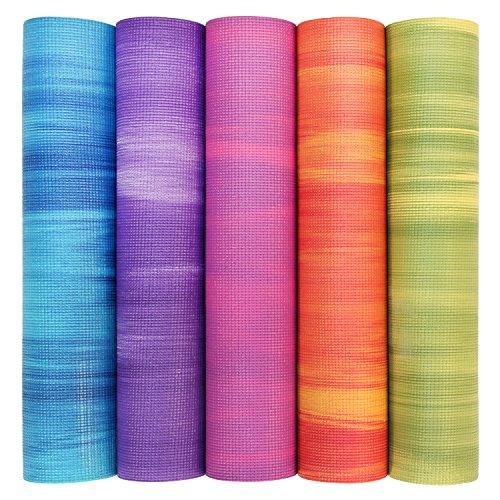 Yogamatte GANGES mit OEKO-TEX, Allround-Matte für Yoga, Gymnastik & Pilates mit guter Dämpfung, griffig und rutschfest in 5 bunten Farben (rot/orange)