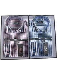 Boys Formal Check Shirt Long Sleeved Smart/Casual Boxed Shirt KCL London 1Y-15Y