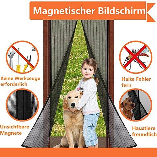 Magnet Fliegengitter Tür Insektenschutz, Fliegen Gitter Türvorhang Magnetic Moskito Netz, Wohnzimmertür, Schiebetür, Ohne Bohren, von VOYAGO (140x240 CM)