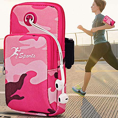 Fascia da braccio sportiva, sqmcase universal running gym workout resistente all'acqua supporto per borsa da braccio con foro per auricolari e tasche doppie per iphone xr / xs / x 8 plus / samsung galaxy s9 plus note 8 e all 3.5-6.2