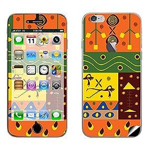 Skintice Designer Mobile Skin Sticker for Apple iPhone 6 Plus (with logo cut), Design - Tribal Pattern
